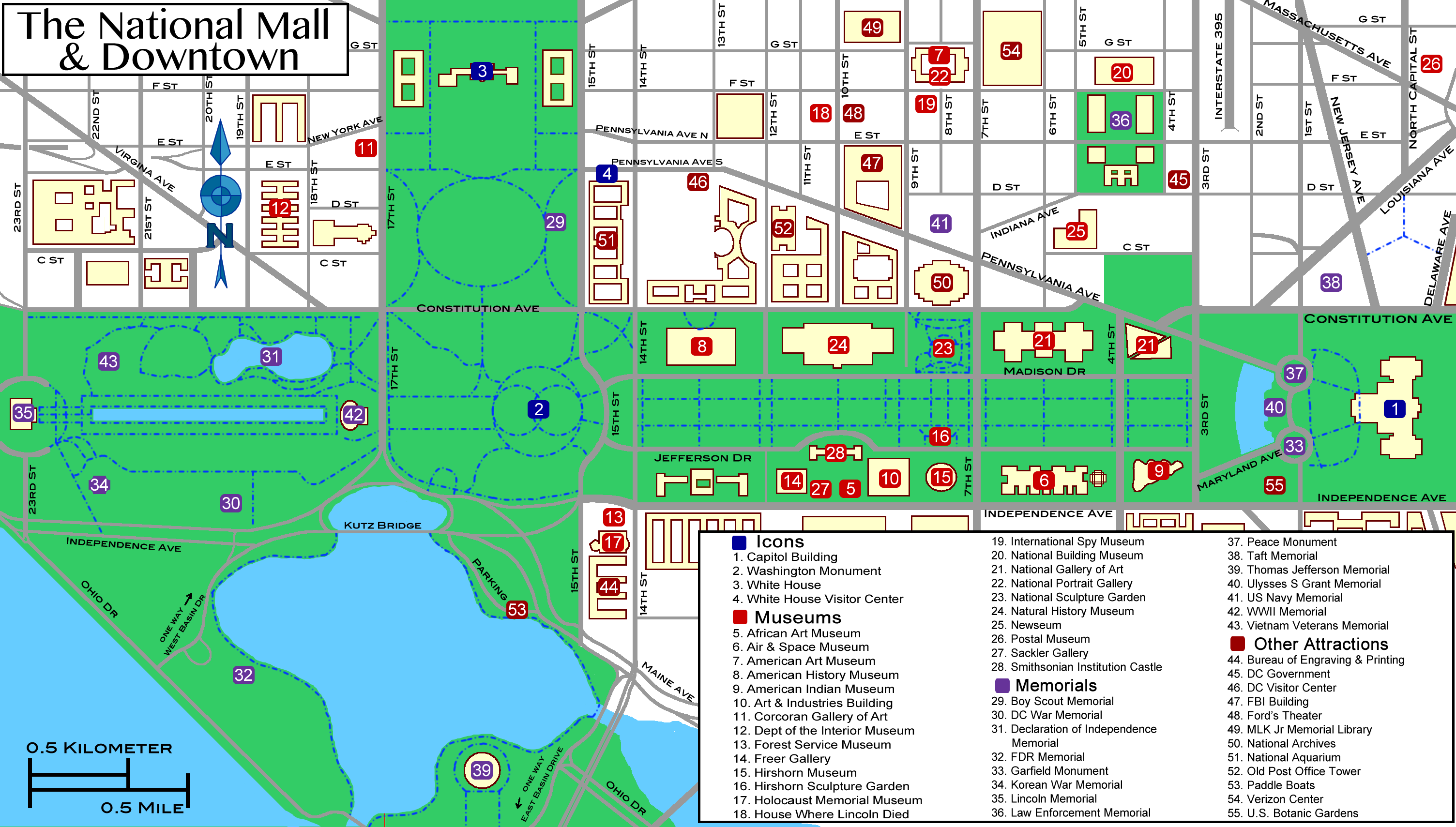 description national mall mappng - photo #8