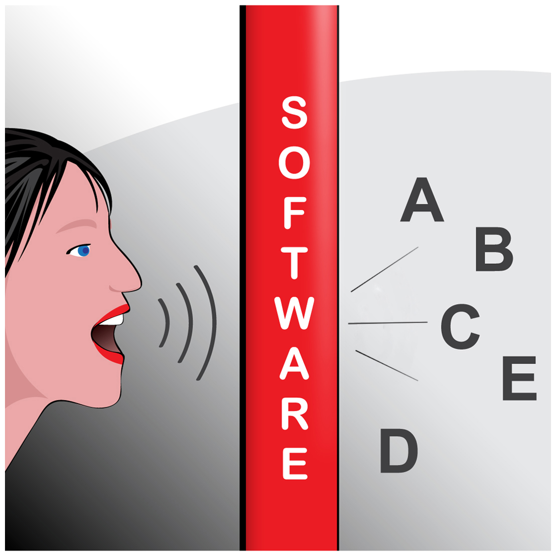 voice recognition software Alternatively referred to as speech recognition, voice recognition is a computer software program or hardware device with the ability to decode the human voice.