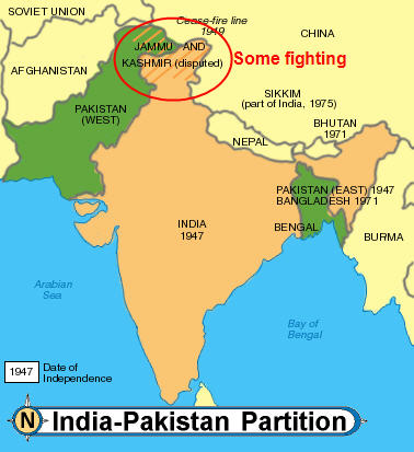 the creation of pakistan after the indian independence The pakistan movement 1940 - 1947 events with regard to the political problems of india and the pakistan passed the indian independence act on.