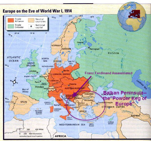 the spark of world war i After archduke ferdinad's assassination,austria-hungary sent serbia its longtime enemy, a list of demands this list included the requirement that serbia.